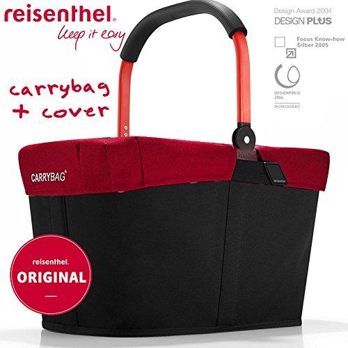 reisenthel-exklusives-angebot-carrybag-gratis-passendes-cover-einkaufskorb-einkaufstasche-red-black-