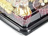 Premium Rectangle Black Food Platter Base & Clear Cover Small (35.5cm x 25cm) (5)