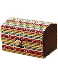 Bruselas08 Caja de madera de bambú de alta capacidad para joyería, cajas de almacenamiento, organizador de anillos, pendientes,…