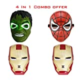 Ironman x 2 Spiderman and Hulk Combo of ...
