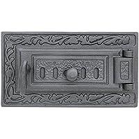 Cenizas Puerta pladur Chimenea del Horno Puerta Madera Puerta Del Horno Barbacoa hierro fundido 325 x