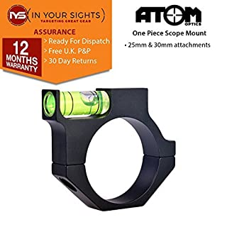 Atom Optics Anti cant rifle scope mounts, available in 25 or 30mm options (30mm Scope body diameter)