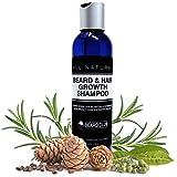 Bart und Haarwuchs Shampoo | Mit hochkonzentriertem Biotin | Mit dem Duft von Zedernholz, Eukalyptus und Rosmarin