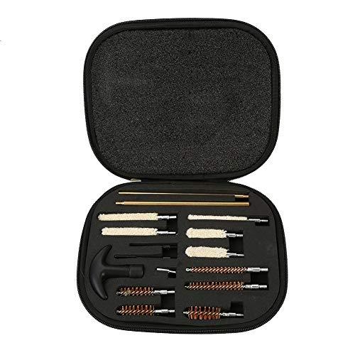 Nikou 16pcs Pistolenreinigungsset - Kompaktes Flintenreinigungsset für 12 und 20 Gauge, tragbare Bürsten mit Tragekoffer für Handfeuerwaffen 22 357 38 40 44 45 9mm -