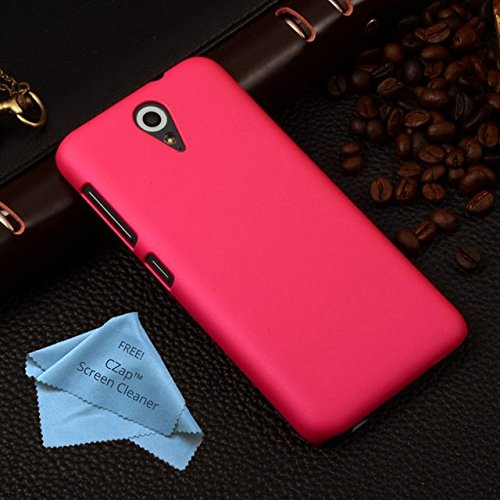 CZap Tough Case Hard Matte Rubberized Back Cover for HTC Desire 620 / 620G - Pink