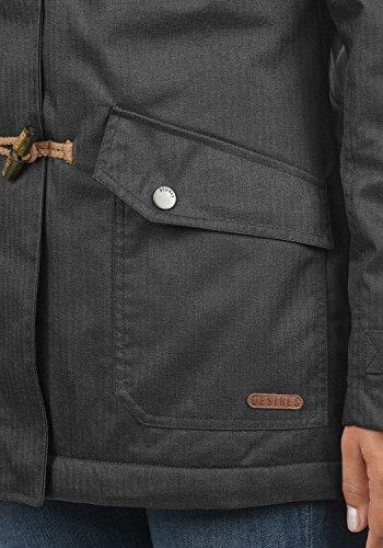 DESIRES Brooke Damen Winterjacke Dufflecoat Parka Mit Stehkragen Und Kapuze, Größe:XS, Farbe:Dark Grey (2890) - 4