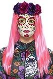 Smiffys 44964 - Damen Tag der Toten Sweetheart Make-Up Set, Sticker, Gesichtsfarbe, Schmuck, Wimpern und Applikatoren, neon