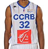 Kappa Basket Ccrb Champagne Chalons Reims Réplica Maillot de Basketball Homme, Blanc, FR : XXS (Taille Fabricant : 6 Ans)