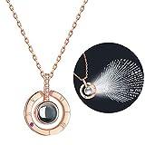 Fascigirl Zoylink Versprechen Halskette Schmuck Anhänger Halskette Gravur Charm Halskette (Rosegold)
