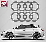 2x Aufkleber Logo Ringe Audi 280x 96mm, gt-design, Decals, peganitas, Aufkleber, A2, A3, A1, A6, A8, A7, A5, RS, TT, Q5, Q7, R8, Sport
