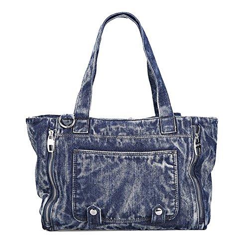 Genda 2Archer Uomini Borsa a Tracolla di Tela Super-jeans, Borsa a Tracolla(43cm*13cm*28cm) Blu