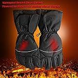 Per Guantes Calefactables de Baterías Guantes Impermeables para Moto de Invierno Manoplas Impermeables