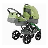 Knorr-Baby 3200-07 Kombikinderwagen Voletto Happy Colour, grau-hellgrün