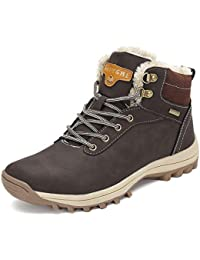 45a52c73a32e Pastaza Men Women Snow Boots Winter Warm Ankle Boots Faux Fur Lined  Anti-Slip Waterproof