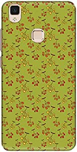 The Racoon Lean printed designer hard back mobile phone case cover for Vivo V3 Max. (berry bran)