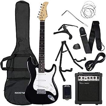 rocket full size beginner electric guitar premium pack with amp musical instruments. Black Bedroom Furniture Sets. Home Design Ideas