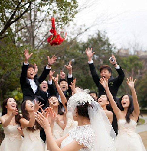 Y&HUNTUO 24 30 cm * 28 cm Bouquet da sposa / Simulazione rosa ortensia / fotografia di matrimonio puntelli / forniture di nozze / viola, rosa, rosa chiaro , purple purple