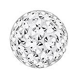 Piercing-Kugel Schmuck Ball Multi Kristalle Kristall Klar | 3 - 8 mm, Stärke:1.6 mm, Kugelgröße:8.0 mm