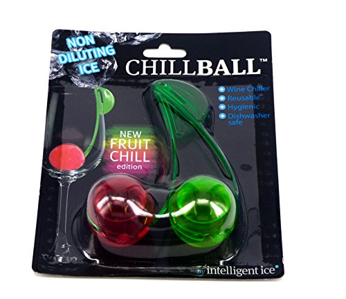 Triple Stück ChillBall wiederverwendbar Wein Kühler (3Packungen von 2Fruit chillballs) (Wein-kugel-kühler)