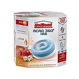 Unibond Aero 360° Tabletas absorbentes de humedad Energizante de frutas, Sensation, Recambio, Pack de 2/2x 450g