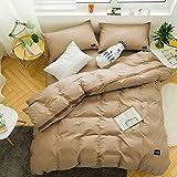 AZSUR Reine Baumwolle vierteiliges Set, Einfache und Reine Farbe, Nordische Baumwolle, 1,5 * 2,0 m, Dusk