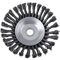 Cepillo de malezas duradero Rotary Joint Nudo de torsión Disco de cepillo de rueda de alambre de acero 25.4x200mm Riego de paisajismo y corte - Plata
