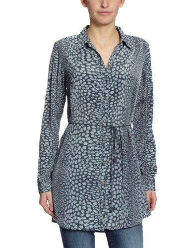 Vero Moda Rapallo Grace - Blouse - Volantée - Imprimé - Femme Gris (Gris/Bleu)