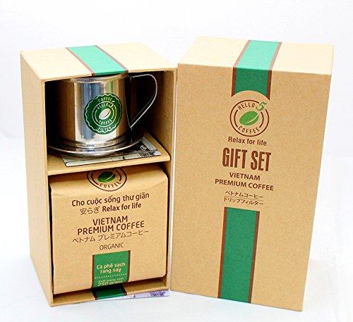 VietBeans Hello5 Giftset Organic - Vietnamesischer Kaffee Geschenk - Kaffeebohnen 250g +...