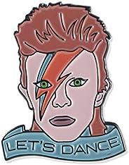 Wizard Pins David Bowie Let's Dance Tribute Enamel Lapel