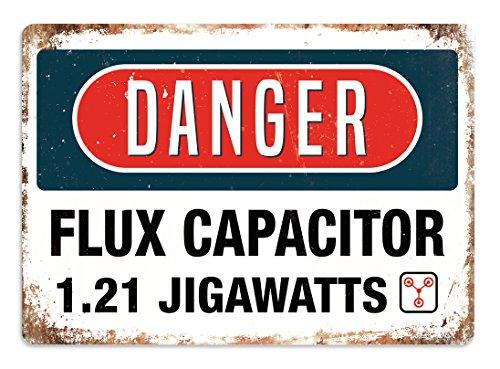 Danger U2013 Flux Capacitor U2013 Placca Di Metallo Da Parete Art Inspirational