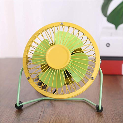 Yuany Kreative Kunststoff USB Fan 4 Zoll Mini Farbe Schreibtisch oberfläche kleine Fan schmiedeeisen Fan (Design: 2) - Schmiedeeisen Oberflächen