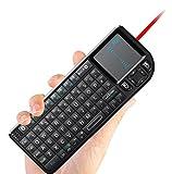 MLFMHR Multifunktionale Tragbare Mini Wireless Bluetooth Edition Tastatur Mit Touchpad-Maus, Laser Pen Und Hintergrundbeleuchtung LED, Wiederaufladbare Tastatur, Handheld Android Tastatur, Geeignet Für PC Laptop Raspberry PI Macos Linux HTPC IPTV