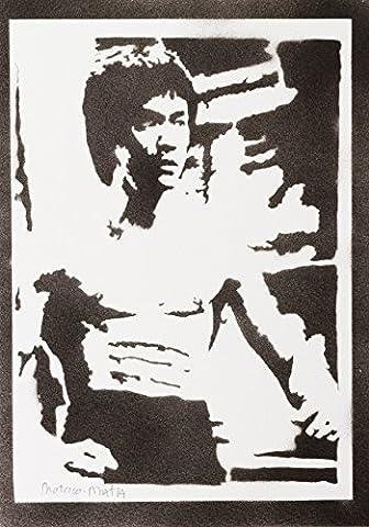 Bruce Lee Handmade Street Art - Artwork - Poster