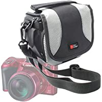 Portable Camera Bag for Canon Rebel T6s, T6i / EOS M3, 760D, 750D / PowerShot SX410 IS / SX530 HS Bridge Camera / IXUS 275 HS -with Padded Interior, Multiple Pockets And Shoulder Strap – by DURAGADGET