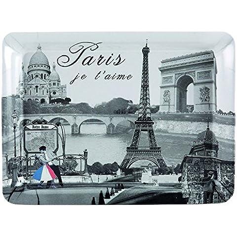 JD Diffusion BR108PJT Paris Je T 'Aime bandeja Rectangular 21x 16cm), multicolor