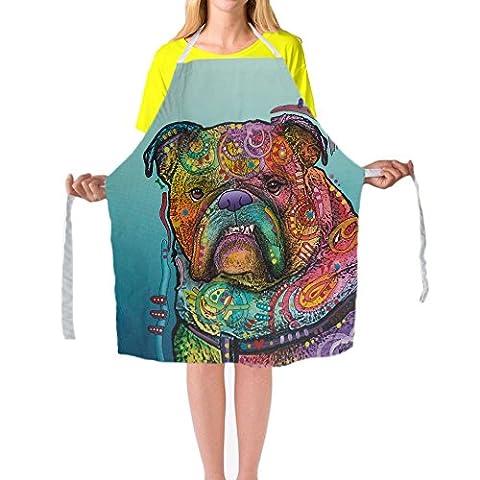 Beagle animaux de peinture d'art tabliers de tabliers de cuisine Cuisine BBQ coloré pour homme femme personnalisé Home Tablier de nettoyage par Cafetime, Polyester, Multi3, 29x34Inch