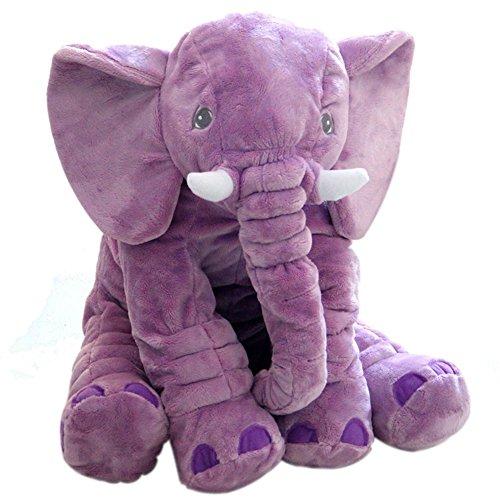 JYSPT Babykissen Elefant Plüschtier Kuscheltier Plüsch Tierkissen (Lila) (Lila Stofftier Elefant)