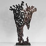 Belisama Helder - Scultura bustier in metallo bronzo acciaio bronzo di Philippe Buil