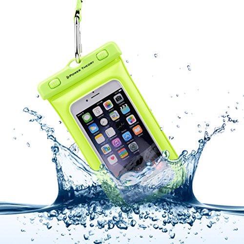 Power Theory Wasserdichte Handyhülle - Wasserfeste Handytasche Handyschutz Cover Beutel Beachbag Tasche Handy Hülle Waterproof Case - iPhone X/XS 8 7 6s Samsung S10 S9 S8 S7 und viele mehr (Gelb)