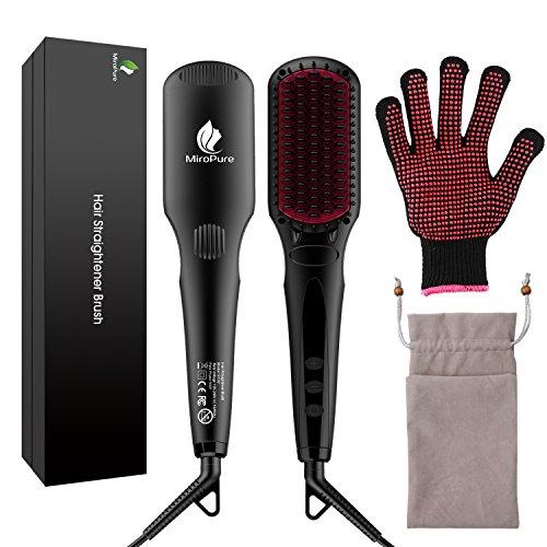 Micropure ionischer Haarglätter -eine feine Glättbürste mit Hitzeschutz
