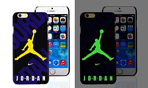 RONNEY'S Air Jordan Luminous PC BLACK Hard Case for Apple Iphone 6/6S DESIGN 3 Design 14