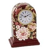 Old Tupton Ware - Burgandy Peony 7 inch Mantel Clock