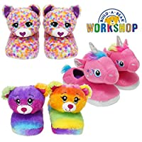 Style It Up Build A Bear Official Kids Girls Slippers Plush Rainbow Friends Unicorn 3D Cute Novelty