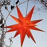 MIT LED Außenstern 65 cm beleuchteter Stern Weihnachtsstern Faltstern (GELB), Leuchtmittel LED (StaRt-NDL-DUH-E14-C3,5W)