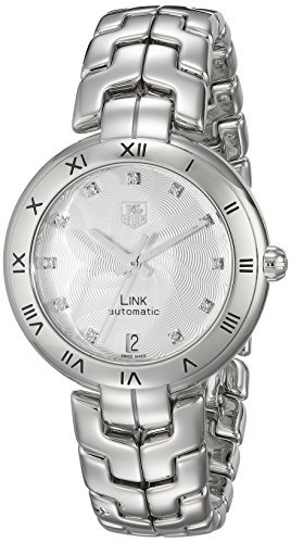 TAG Heuer WAT2311. BA0956Link de la mujer analógica Swiss automático plateado reloj