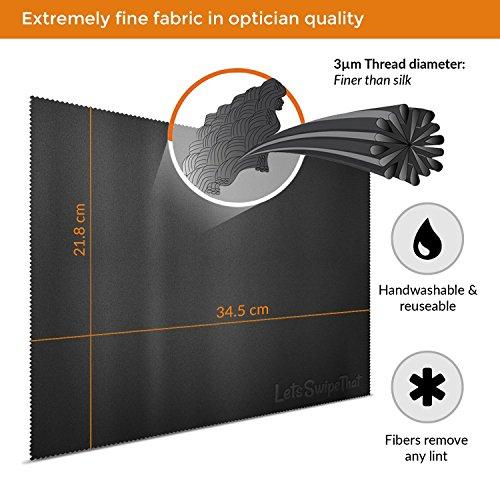 3x LetsSwipeThat Mikrofasertcher 15 Zoll Mikrofaser show Schutztuch Microfasertuch zum Bildschirm Schutz vor Laptop Tastatur Schmutz Microfaser Reinigungstcher zur Notebook Reinigung Staubschutz