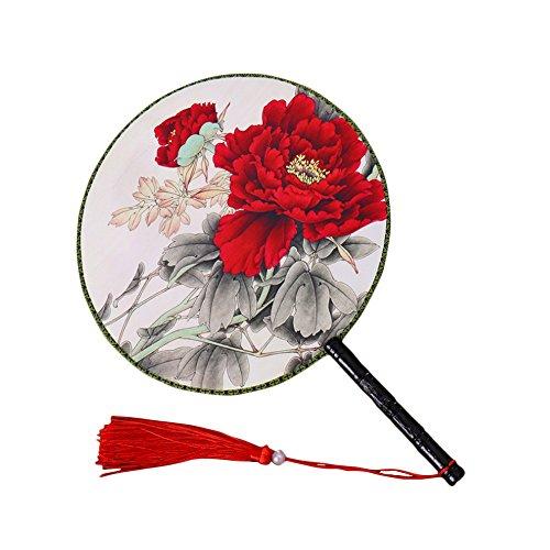 1X Toruiwa Handfächer Vintage chinesischer Stil Fächer Fan für DIY Hochzeit Geschenk Tanzabend Party Kostüm Maske Karnevals (I)