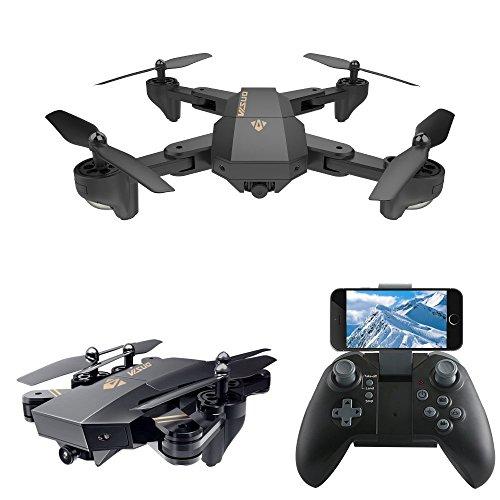 LeaningTech XS809W WiFi FPV Faltbare RC Taschedrohne Drohne mit Kamera 10 Minuten, 2.4GHz 6-Axis Gyro Fernbedienung Drone Schwerkraft Sensor Höhenhaltung Kopflos