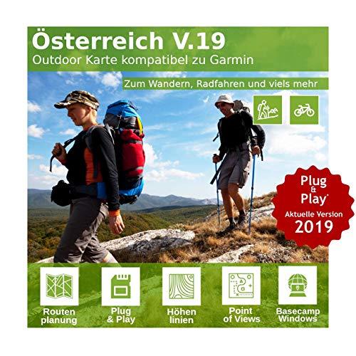 Österreich V.19 - Profi Outdoor Topo Karte passend für Garmin Navigation - Zum Wandern, Geocachen, Bergsteigen, Radfahren, Radtour Garmin Rino Auto