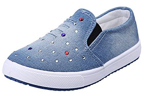 Scothen Unisex-Baby Kinder Sneakers Turnschuhe Canvas Kinder Schuhe Denim Laufen Sport Baby Turnschuhe Mädchen Jungen Sneaker Leinenschuhe Segeltuchschuhe Laufen Sport Baby Turnschuhe